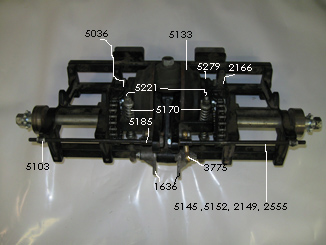Transaxle showing old part numbers